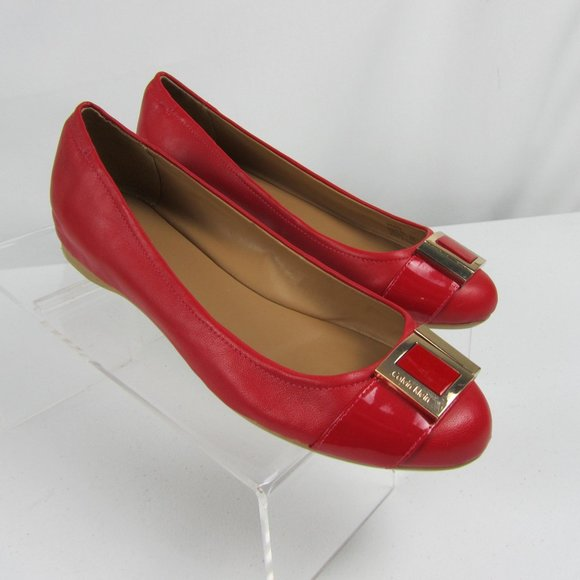 Calvin Klein Madeline Red Flats Size 9
